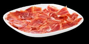 plato de jamón